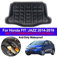 Araba arka Boot kargo astarı bagaj paspas halılar tepsisi paspaslar ped Mat halı Honda FIT caz için kapak 2014   2016 2017 2018 2019