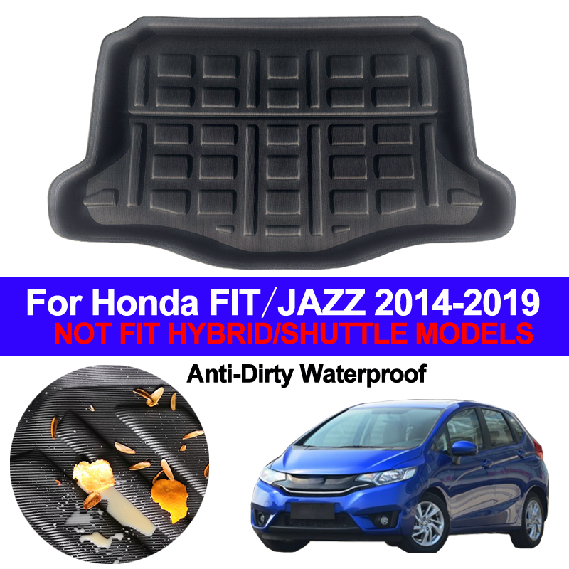 Car Rear Boot Cargo Liner Trunk Floor Mat Carpets Tray Mats Pad Mat Carpet For Honda FIT JAZZ Hatch 2014 - 2016 2017 2018 2019