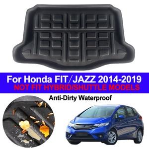 Image 1 - Car Rear Boot Cargo Liner Trunk Floor Mat Carpets Tray Mats Pad Mat Carpet For Honda FIT JAZZ Hatch 2014   2016 2017 2018 2019