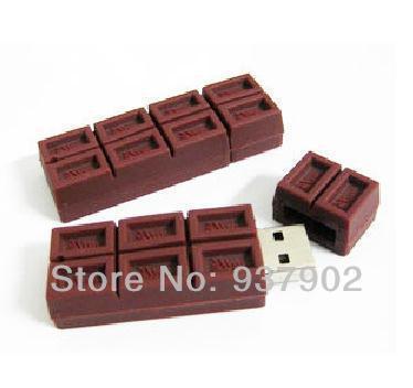 Usb Stick chocolate shape Stick Drive U Disk Festival Thumb/Car/Pen Gift 4GB 8GB 16GB 32GB 64GB S18