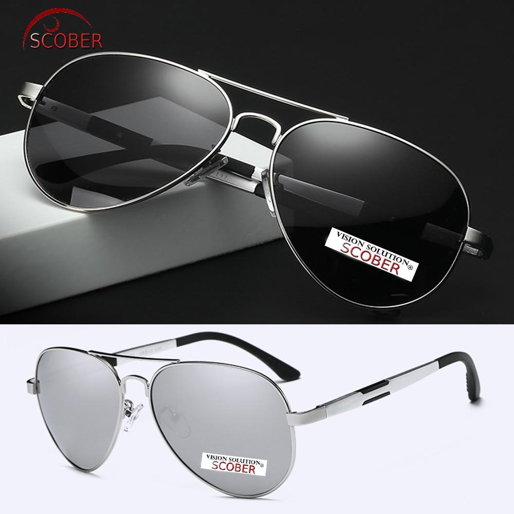 SCOBER Al-Mg Polarized óculos de Sol Piloto Homens Primavera Templo Quadro  Grande Pesca Condução Uv400 Uv 100% Navegação c292d93014