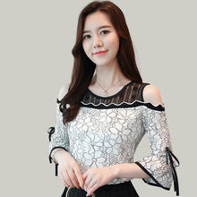 womens tops and blouses summer off shoulder top round neck short sleeve sexy lace shirt elegant ruffle blouse cold