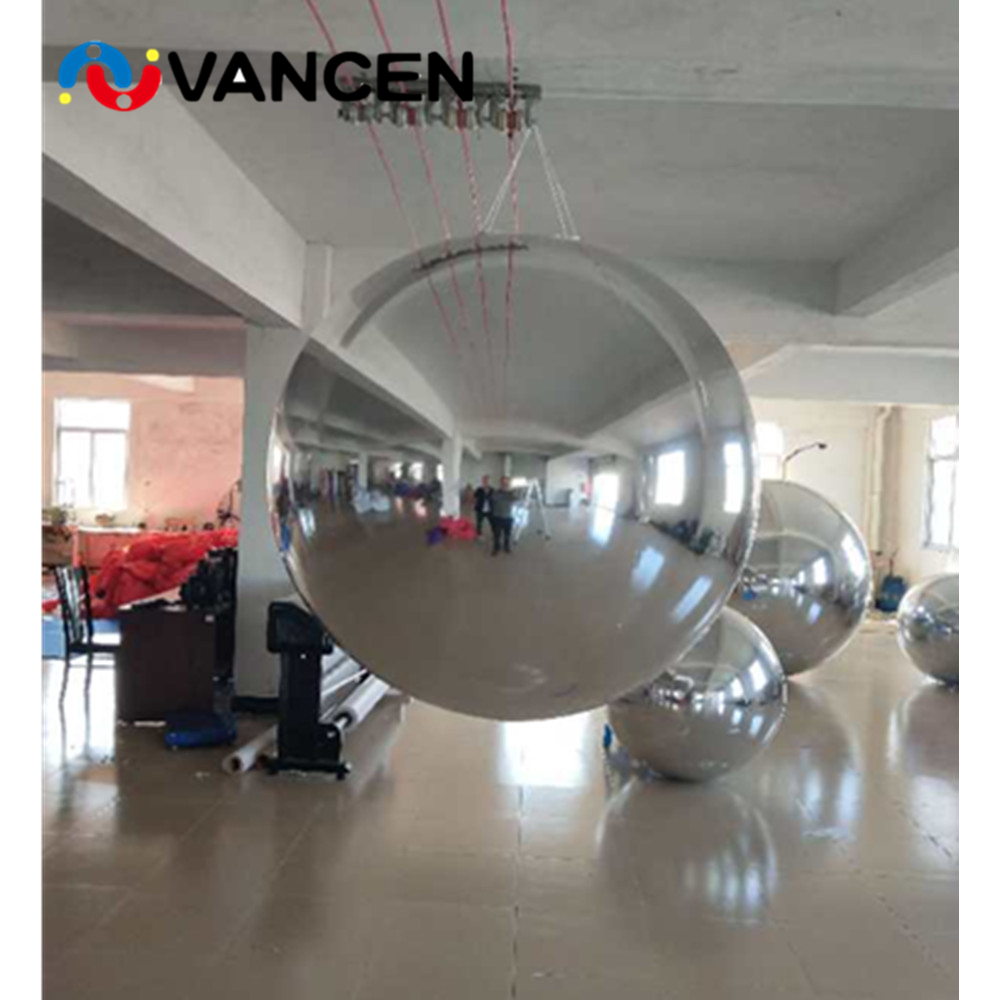 Nastro molti formato gonfiabile mirror ball decorazione di pubblicità di alta qualità pvc gonfiabile palla a specchio per la vendita - 3
