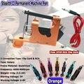 Hot Aluminum  Stealth Rotary Tattoo Machine Gun Liner Shader  for Tattoo Gun Kits Supply Orange Free Shipping