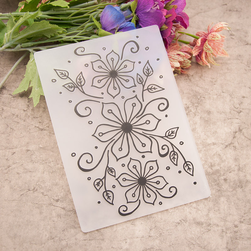 Flower Folder Plastic Template Embossing Dies Stencil DIY Scrapbooking Album Art