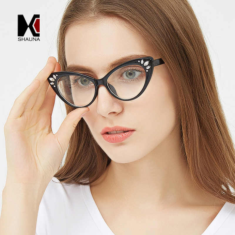 658e8b9db70 ... Summer Styles Fashion Women Square Eyeglasses Frame Metal Temple  Oversize Reading Glasses UV400. RELATED PRODUCTS. SHAUNA Crystal Decoration  Women Cat ...