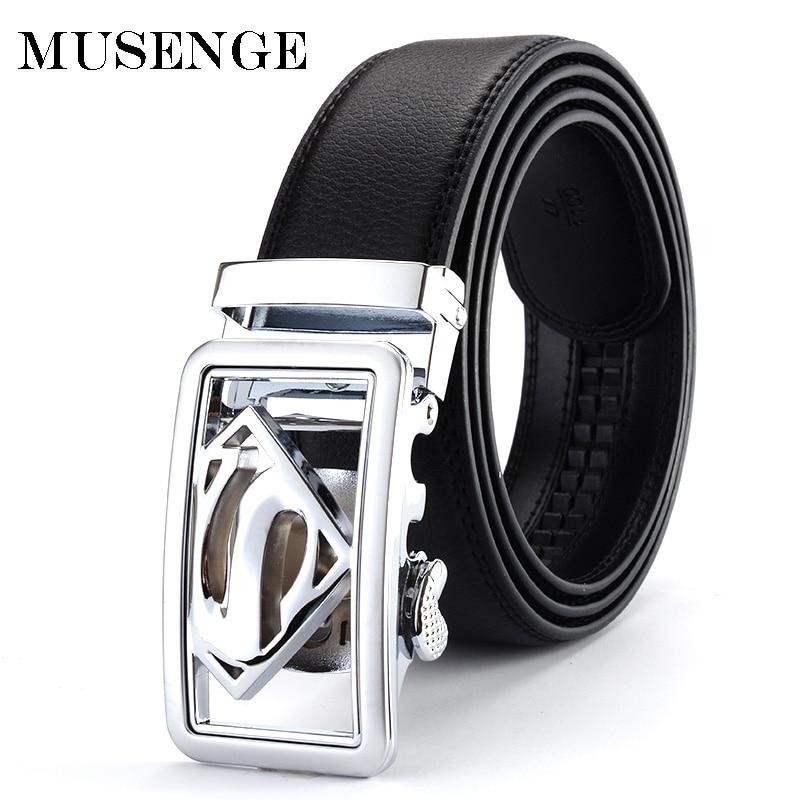 MUSENGE pas moški usnjen pas za moške ceinture homme oblikovalec pasovi moški visoko kakovostne avtomatske zaponke Cinto Masculino moški riem