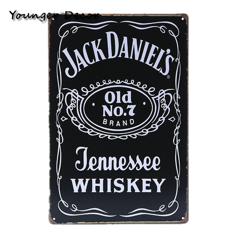 Jack Daniels Old Time Tennessee Whiskey Metal Sign Wall Art Ebay ...