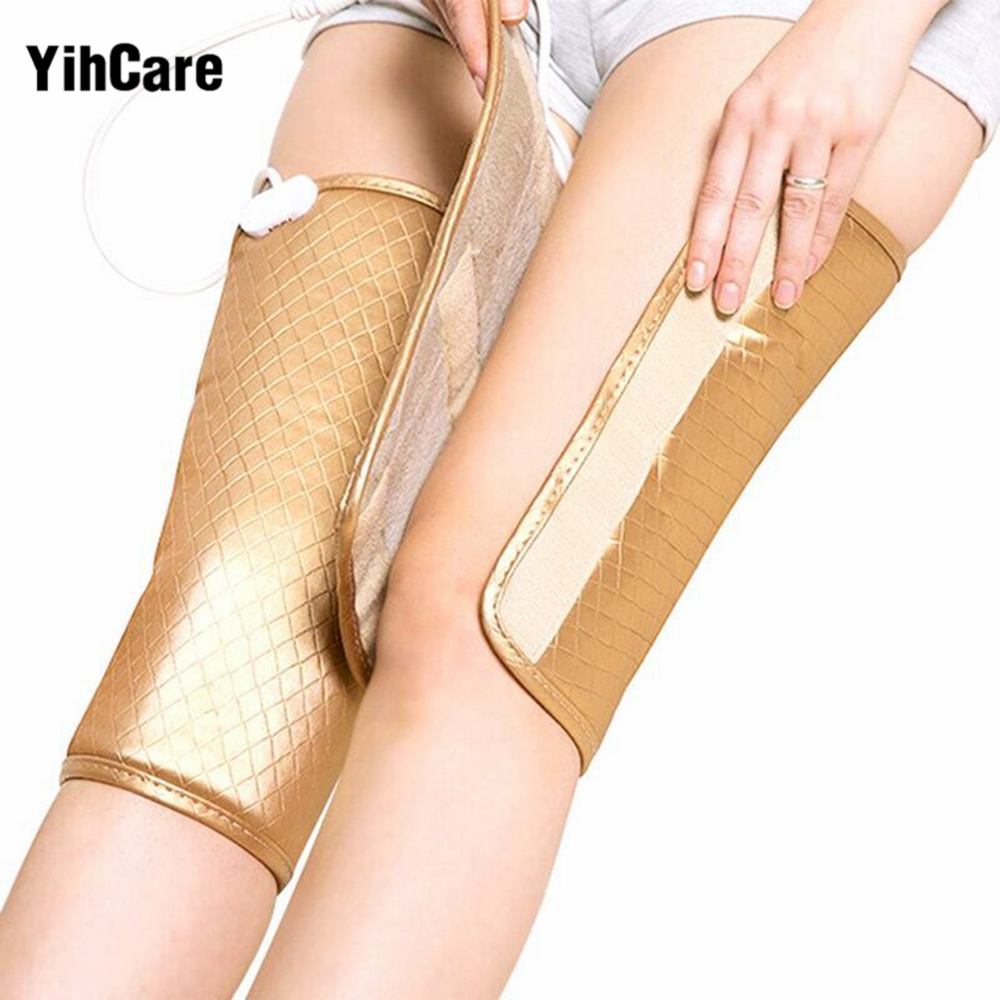YihCare 1Pair Heating Therapy Arthritis Rheumatism Treatment Device Vibration Electric Foot Leg Massager Heat Joint Knee Pads bioelectric therapy device prostatitis treatment natural remedies