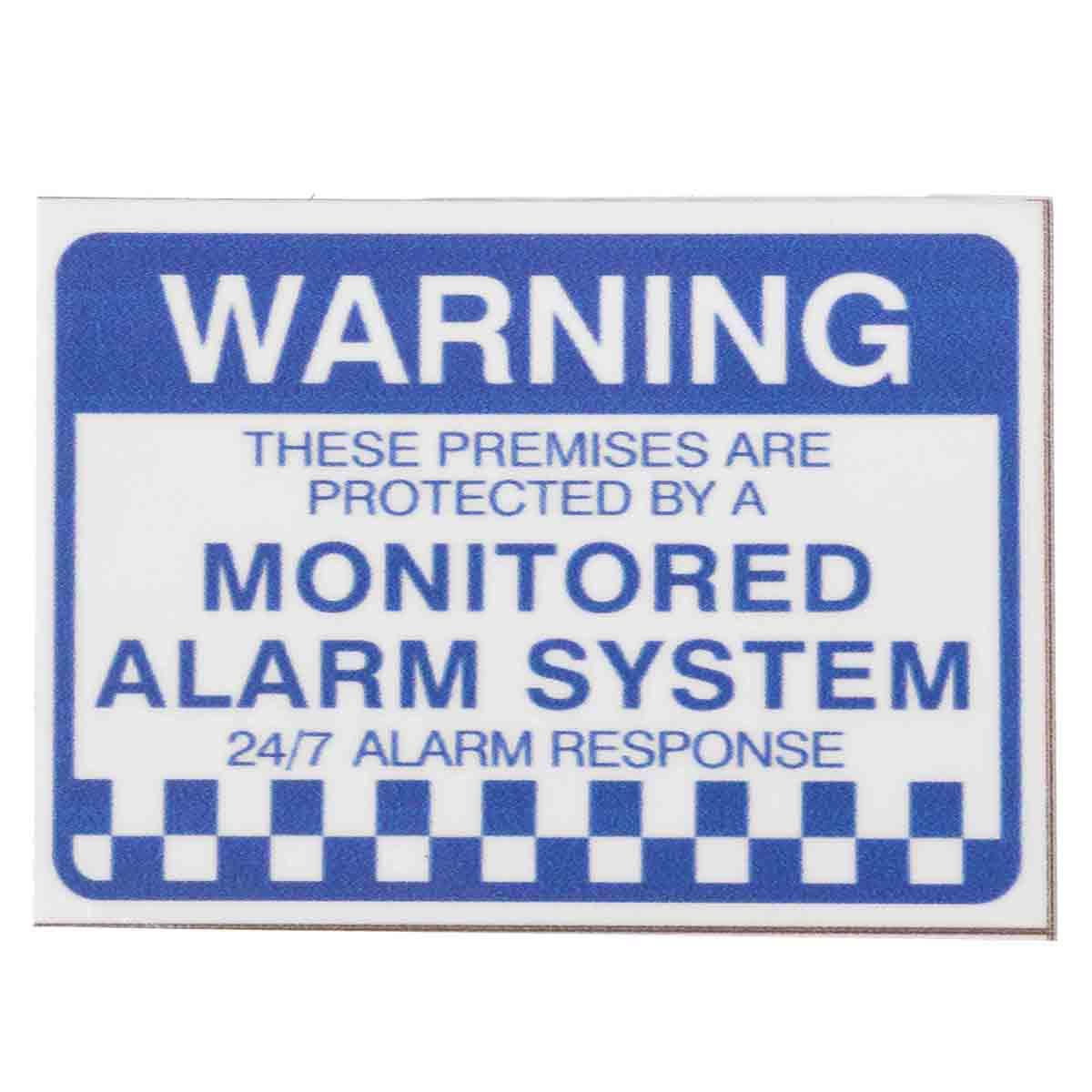 Новый 8X сигнализации Системы проверены предупреждение безопасности Наклейки Водонепроницаемый знак безопасности дома Детская безопаснос...