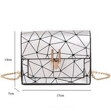 Shoulder handbag chain wild crack printing bag SF