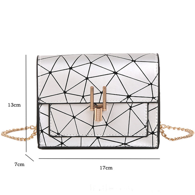 Women Shoulder Bags 2019 summer new Korean version of the Messenger bag handbag chain wild crack printing wild shoulder bag 5