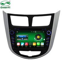 GreenYi New 2GB RAM Android 7.1 Tablet PC Car DVD Player For Hyundai Accent Solaris Verna 2011-2014 GPS Navi Audio Radio Video