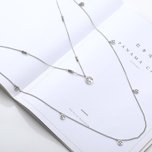 Stainless Steel Double Layer Long Chain Necklace For Women Fashion Tree of Life Charms Elegant Party Trendy Jewelry New