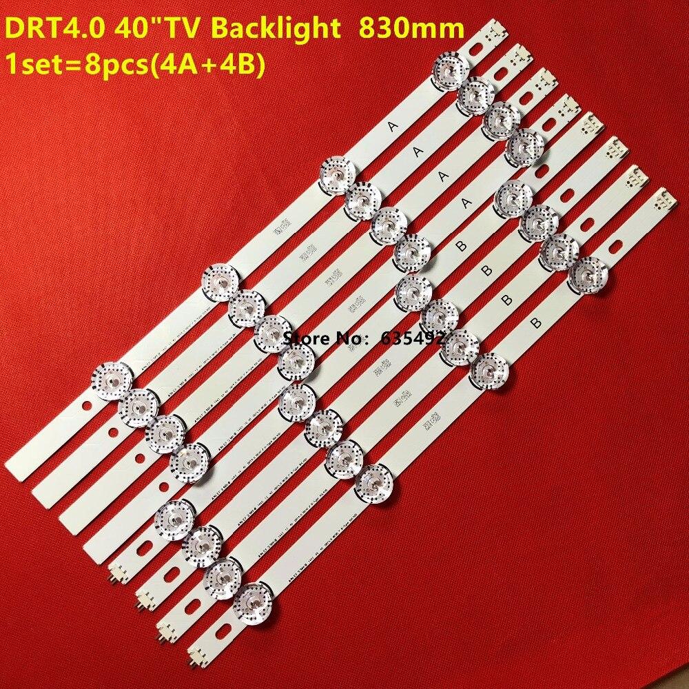 """8pcs LED Backlight Lamp strip 8 leds For LG 40""""TV 40LF630V SVL400 HC400DUN-VCKN1-211X VCKN5-214X 40LH5300 DRT4.0 40"""" 6916L-0885A"""