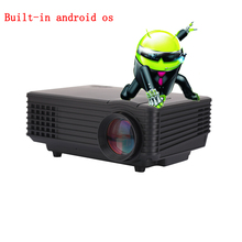 2016 Best LED Built-in WiFi 3D HD Home Theater Projector Mini Portable Support HDMI USB Video LCD 800*480  Beamer Projetor
