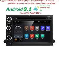 2GB RAM Android8.1 Car DVD Player for Ford F150 F350 F450 F550 F250 Fusion Expedition Mustang Explorer Edge with BT Wifi 4G DVBT