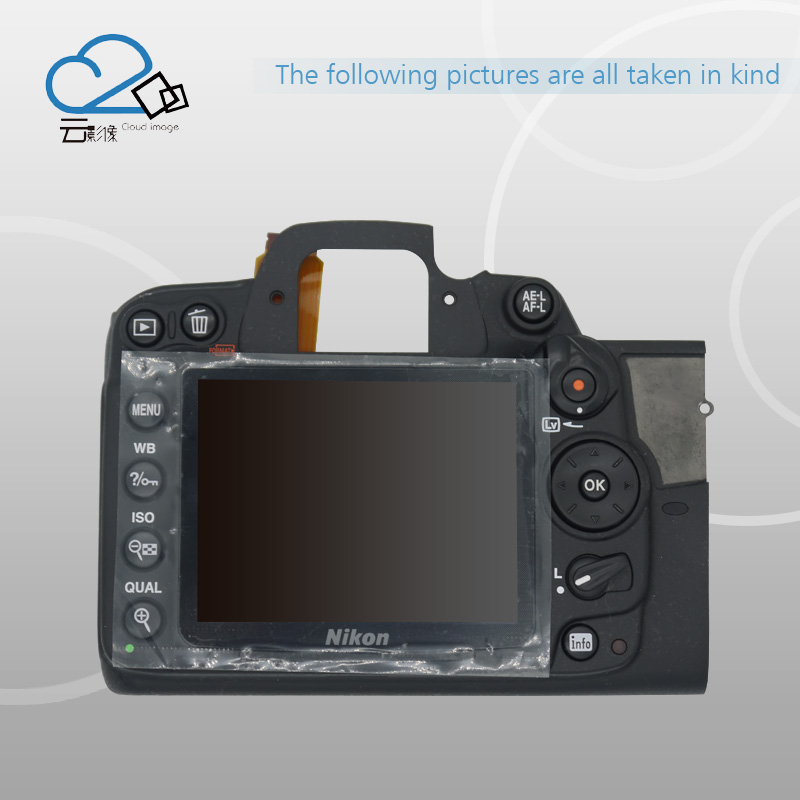 Cloud Image!D7000 Rear Back Cover Shell with LCD,Button,FPC For Nikon D7000 for nikon free shipping test ok d750 back cover with lcd display screen back case with menu button flex cable fpc for nikon