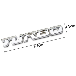 Image 5 - 3D Car Sticker Metal TURBO Emblem Body Rear Tailgate Badge For Ford Focus 2 3 ST RS Fiesta Mondeo Tuga Ecosport Fusion