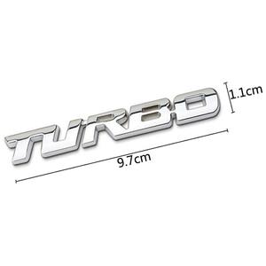 Image 5 - 3D سيارة ملصقا المعادن توربو شعار الجسم الخلفية الباب الخلفي شارة لفورد التركيز 2 3 ST RS فييستا مونديو Tuga ecosport الانصهار