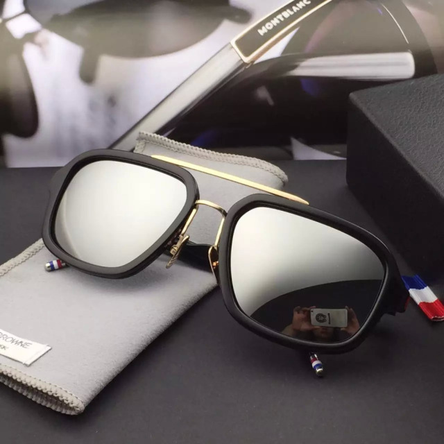 1ebac778e7 2015 THOM BROWNE sunglasses TB-017 Brand Designer New York Brand Sunglasses  Men Women Vintage Fashion SUN Glasses For big face x