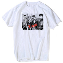 Vintage UK PUNK Band Rock The Clash T-Shirts jeunes hommes 1976 London Tee mode T-Shirts fête grand et grand vêtement t-shirt hommes(China)