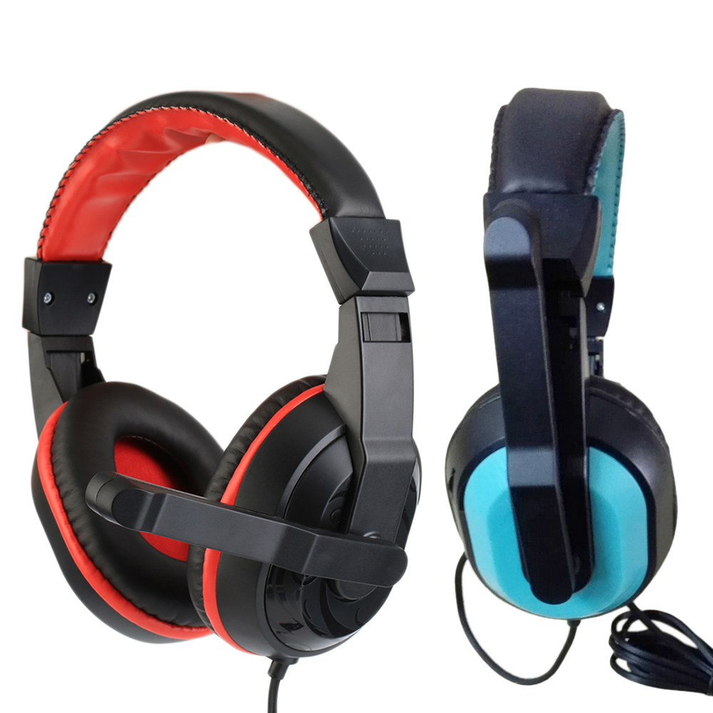 купить Hot selling 3.5mm Gaming Video Wired Headphones Stereo Earphone Music Headset with Noise Cancelling For MP3 MP4 Mic PC Computer недорого