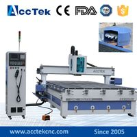 Acctek 2030 2040 Big Japanese Servo Motor Disc Type Atc Cnc Router 4 Axis Cnc Router