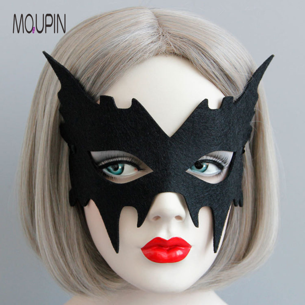 MQUPIN Bar Masquerade Show Black Mask Halloween Men And Women Face Accessories Stage Drama Performance Cosplay  Erotic Toy