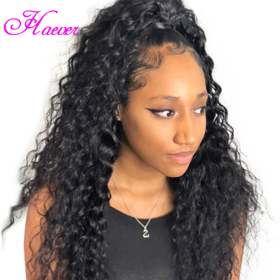 Haever Brazilian Deep Wave Lace Front Human Hair Wigs With Baby Hair Pre Plucked 13x4 Human Hair Wig 150% Remy Human Wigs(China)