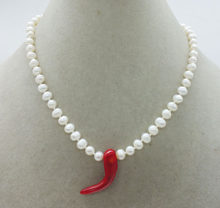 "6MM 3A Natural White Pearl Necklace 17""(China)"