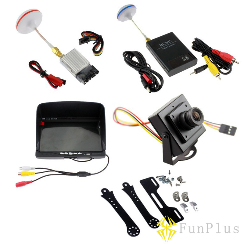 RTF FPV Combo System 5.8ghz TS353 Transmitter RC805 Receiver on Monitor 700TVL Camera Phantom QAV250 CX20 Quadcopter цена