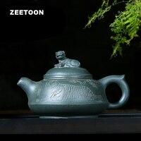 170CC Authentic Yixing Teapot Chinese Healthy Purple Clay Pot Wo Hu Chang Long Master Handmade Zisha