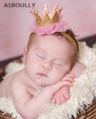Baby Photoprops Crown Hair Headband Dress Cosplay Chiffon Kid Birthday Party Baby Shower Decoration