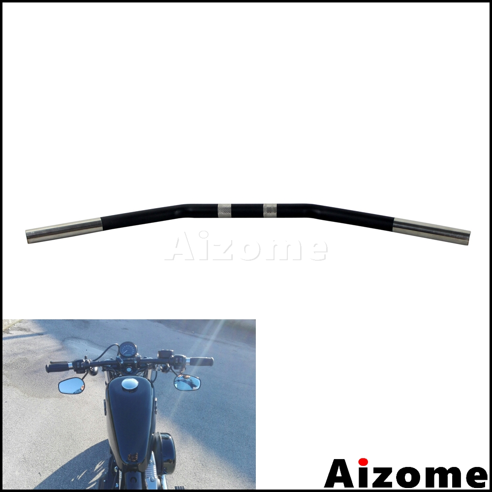 Motorcycle Rise Batwing Ape Handlebar 12, Black Dirt bike Handle Bar for Harley XL 883 883n 883 XL1200 Softail Sportster//HONDA Steed