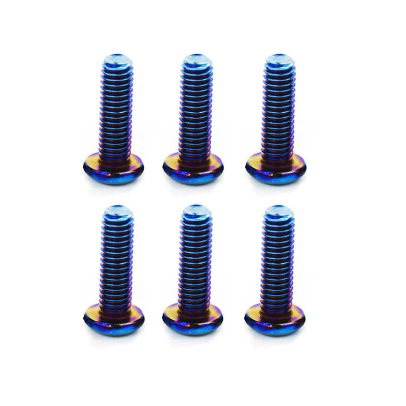 WLR RACING - 6 개/몫 탄된 티타늄 스티어링 휠 볼트가 많은 스티어링 휠에 적합 라운드 보스 키트 WLR-LS06CR-R