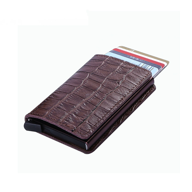 BISI GORO 2019 Crocodile Leather Wallet RFID Bloacking Genuine Card Holders Vintage Multifunction for Travel