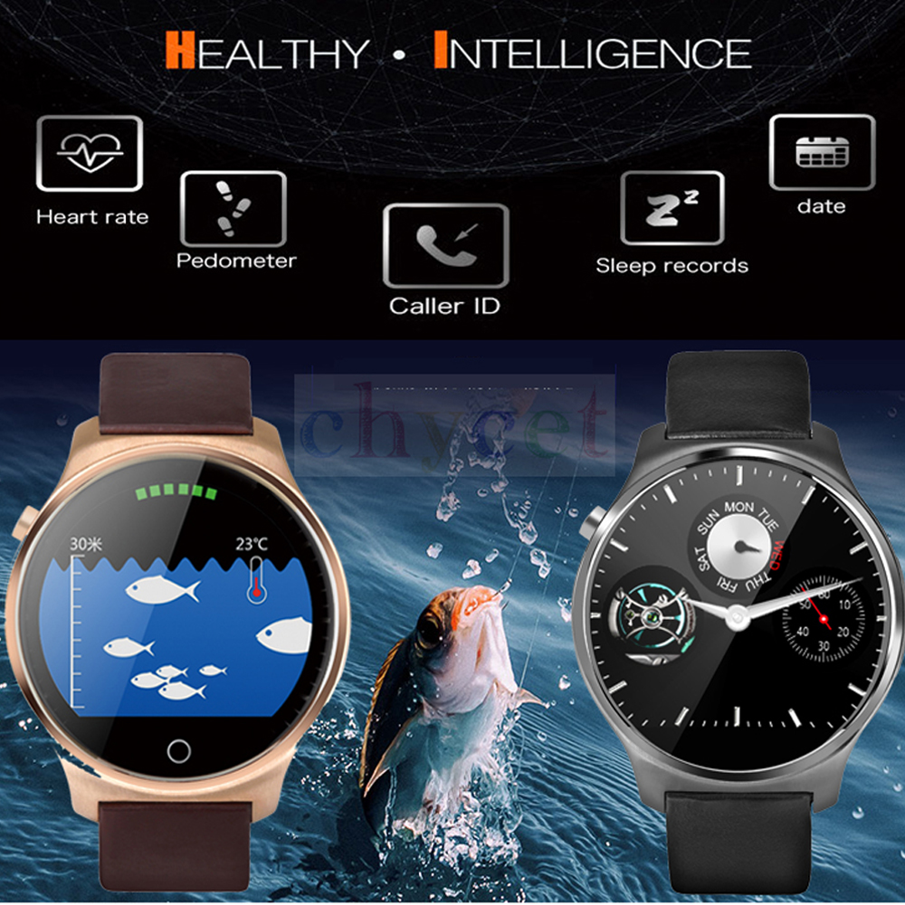 A29 BT Smart Fish Finder Watch font b Wireless b font Sonar Heart Rate Pedometer Sleep