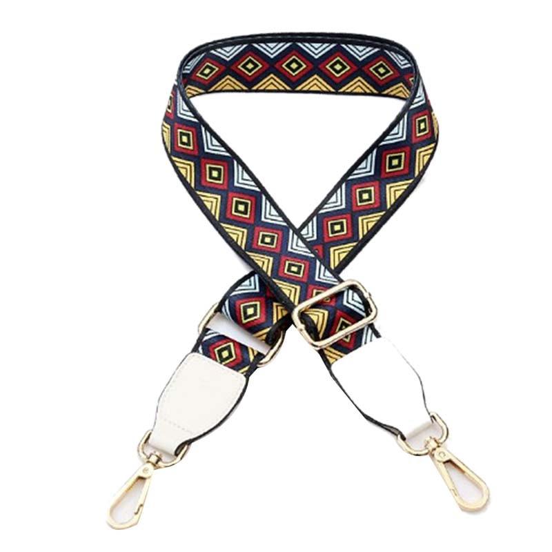 Retro Long Bag Strap Colorful Shoulder Belts Replacement Detachable Handbag Handle DIY Belt Gold Silver Buckle Bag Accessories belt