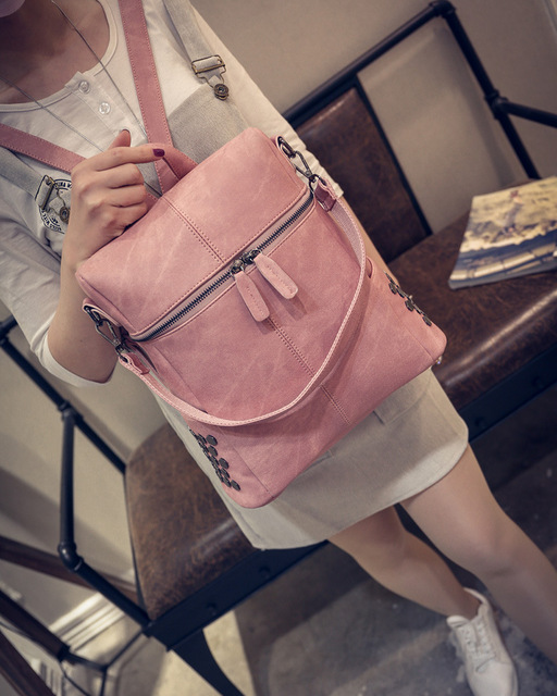 Ladies Bags 2017 Hot Sale Women Backpacks Pu Leather Shoulder Student Schoolbags Casual Backpack Travel Big Mochila Bolos