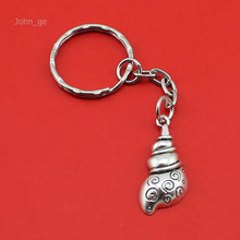 New Hot Selling Women/Men's Fashion Handmade Vintage Silver Conch Key Chains Key Rings Alloy Charms Gift YS4459 Wholesale