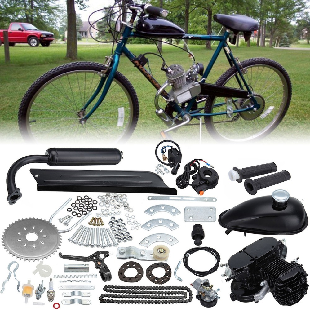 Sale Time-limited 2-stroke Cycle Motor Muffler Motorized Bicycle Bike Engine Gas Kit For 80cc