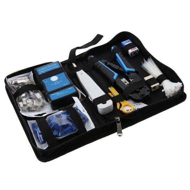 RJ11 RJ12 Кабельный Тестер Professional Network Tool Kit Ремонт Компьютеров Обслуживание Установить Чистые Плоскогубцы Кусачки Для Зачистки Проводов Нож