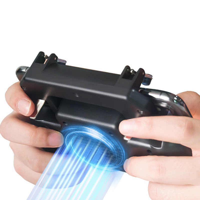 3 en 1 2000/4000mah Gamepad SR2 la 5 generación móvil Pubg controlador Shooter gatillo ventilador de refrigeración móvil Power Game Handle