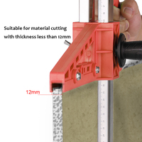 Manual Portable Gypsum Board Cutter Hand Push Drywall Cutting Artifact Tool with Double Blade 4 Bearings 20 600mm Cutting Range