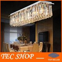 Лучшая цена современные хрустальные люстры свет прямоугольные светодиодные Crystal Light Гостиная Потолочная люстра Освещение светильники бар