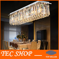 Best Price Modern Crystal Chandelier Light Rectangular LED Crystal Light Living Room Ceiling Chandelier Lighting Fixtures Bar