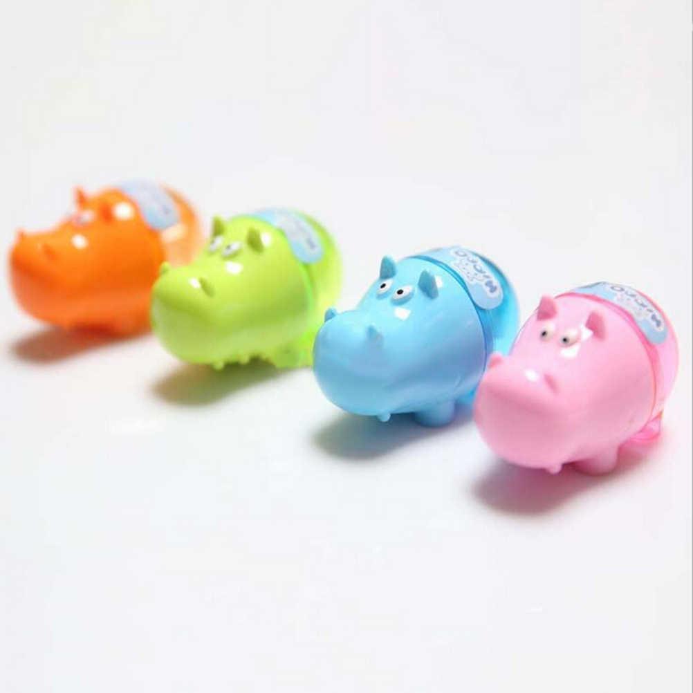 1Pc Mini świnia temperówka kreskówka zwierząt losowy kolor