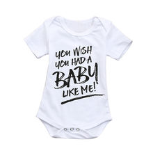 Summer Baby Clothes Toddler Infant Baby Boy Letter Print Short Sleeve Jumpsuit Romper Baby Boy Romper Brother Clothing JE13#F(China)