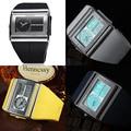 OHSEN бренд цифровые кварцевые мужские модные спортивные часы наручные часы dual time display 30 М водонепроницаемый резинкой белый ЖК-мужской часы
